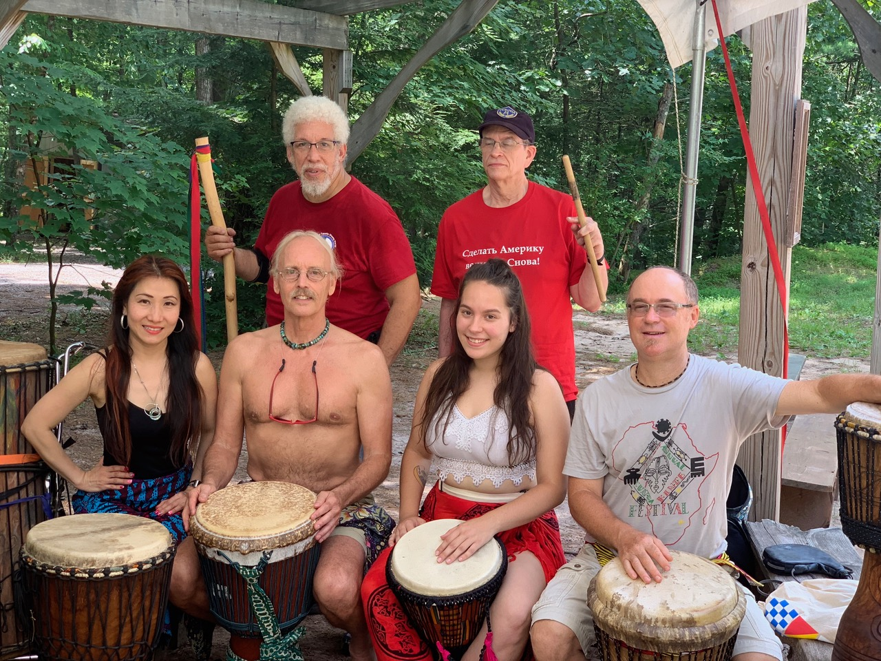 Djimbe workshop w Erro Gutshall, Drum N Splasn 2019